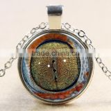 XP-TGN-HE-129 Wholesale Glass Cabochon Necklace In Alloy