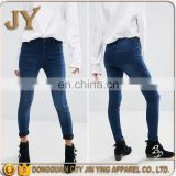 Best Selling Products in America Skinny Jeans Zip Fly Pants Women High-rise Waist Pants Fitted JY Apparel