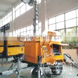4*1000W Manual rotating generator hydraulic Mobile high mast light tower