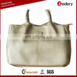 OEM design fashion leather golds gym bag