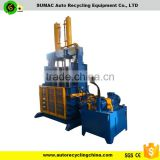 baling machine to compress waste tires