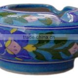 Blue Pottery Ceramic Ashtray , Blue Pottery Products