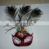 party carnival masquerade ball feather dance mask MPM-071