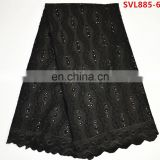 swiss voile cotton lace fabric 100% cotton swiss voile lace fabric black