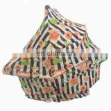 Stretchy infant baby modern breastfeeding nursing cover floral car seat cover canopy