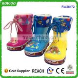 Fancy children Colorful rain boots, child rubber rain boots, PVC rain shoes for girls