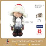 17 Inch Resin Boy And Girl Christmas Decorating Craft Statue