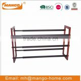 Wooden Stand Metal Extendable Shoes Rack