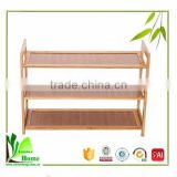 Corner Storage Furniture natural bamboo small shoe rack