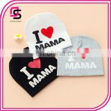 Cute baby cotton hats love MAMA&PAPA fashion baby hats