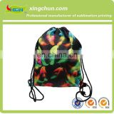 Hottest 210D cheap colourful custom children polyester drawstring bag