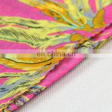 Feather printed dark pink color polyester chiffon style stole for season (WPC13-014DL)