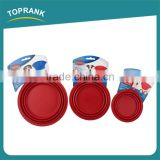 Personalized multi sizes pet travel feeding bowls silicone collapsible dog bowl