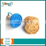 Customized Promotion FDA Silicone Cookie Stamp Concrete Mould