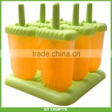 Amazon Hot Sale Set of 6 Reusable Popsicle Molds Ice Pop Molds Maker