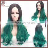 Mixed Color 75cm Long Curl Body Wave High Temperature Silk Masquerade Daily Wigs