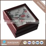 Wood boxes with sublimation tile