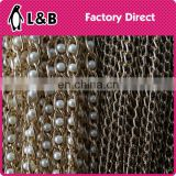 wholesale decoration chain pear beaded long chain gold black beads chains