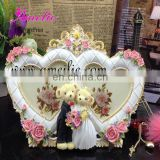 A5012 Wholesale Resin Couple for wedding gifts heart-shaped picture frames