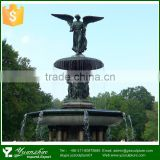 outdoor garden bronze large angel fountain for sale