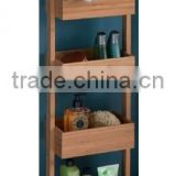 2015 Bamboo Quad Tier Bathroom Shelf