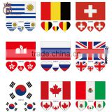World Cup Fan National Flag Temporary Tattoo Sticker