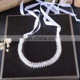 Luxurious Bride Tiara Headbands 30cm Handmade Pearls Crystal Wholesale Hair Accessories