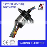 capsule slip ring SRC22-18 dia.22MM 18wires 2A/Per wires, slip ring rotary joint electrical connector