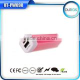 Hot selling promotion gift channel lipstick power bank 2600 mah