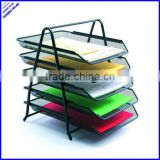 2014 best selling a4 metal mesh 5 tier document tray