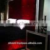 Galleria Crystal Bed Set In High Gloss Black