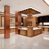 Jewelry Store Display Showcase Wooden Counters and Glass Cabinets Made from Shenzhen JE Display for Shop Furniture