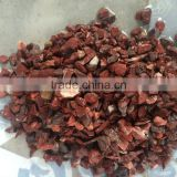 red stone chips for terrazzo floor and landscaping