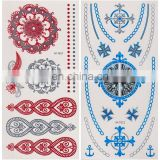 Wholesale Jewelry Inspired Tattoo Metallic Temporary Tattoos