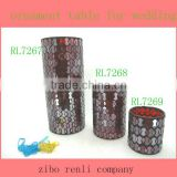 Wedding Gift Red Mosaic Chinese Vase Glass Cylinder