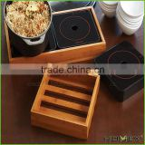 Bamboo office desk organizer storage crate box Homex BSCI/Factory