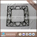 Black decorative wrought iron picture frame, rubber feet( tile sold separately)