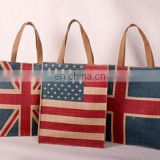 National Flag Linen Storage bag Jute Shopping Bags