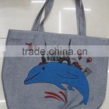 Fashion Lady popular canvas cotton gift cheap hot bag