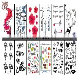Fashion Body Art Stickers Removable Waterproof Temporary Tattoo