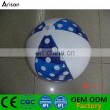 Factory cheap customized inflatable beach ball printed with dots