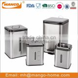 4pcs stainless steel rice canister