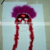 party carnival masquerade ball feather dance mask MPM-075