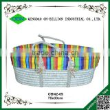 Handmade corn baby mose basket with liner