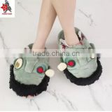 Heavy taste couples cotton shoes whimsy slippers zombie zombie sandals plush toys Halloween gifts