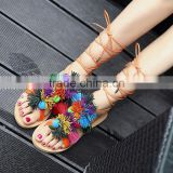 B13383A New fashion lady summer beach flat tassel venonat sandals