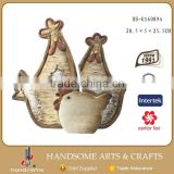 25.5 CM Ceramic Rooster Statue Home and Garden Animal Shape Photo Frame