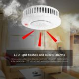 JADE wilress zigbee lora smoke detector fire alarm SD50 with Independent batteries for home security system