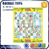 Kids indoor chess toy play mat snake and ladder game