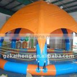 Inflatable tent pool
